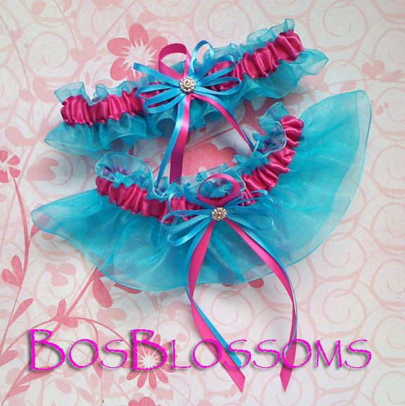 Rahenas Blog Fuchsia Hot Pink N Turquoise Organza Bridal Wedding