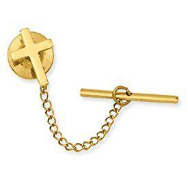 Gold-plated Small Plain Cross Tie Tack - JewelryWeb  http://electmejewellery.com/jewelry/mens-jewelry/mens-tie-pins/goldplated-small-plain-cross-tie-tack-jewelryweb-com/