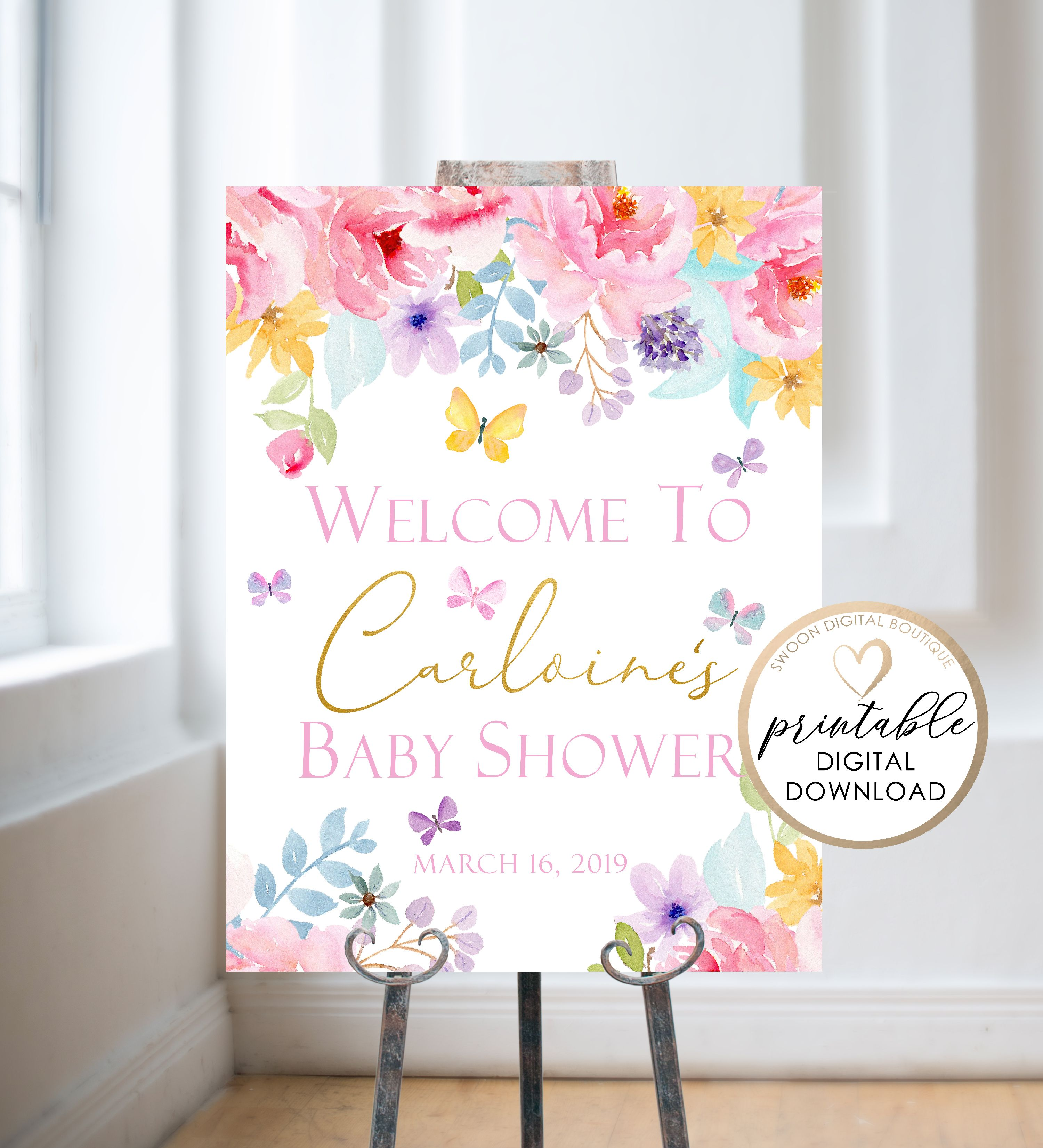 Lavender Butterfly Garden Dont Say Baby Baby Shower Game Printable