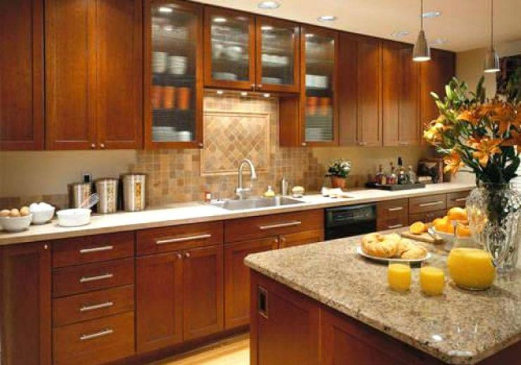 Upper Kitchen Cabinets With Glass Doors On Both Sides Cabinet Home