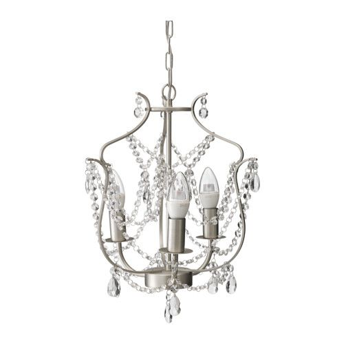 KRISTALLER Chandelier, 3-armed, silver color, glass | Kronleuchter ...