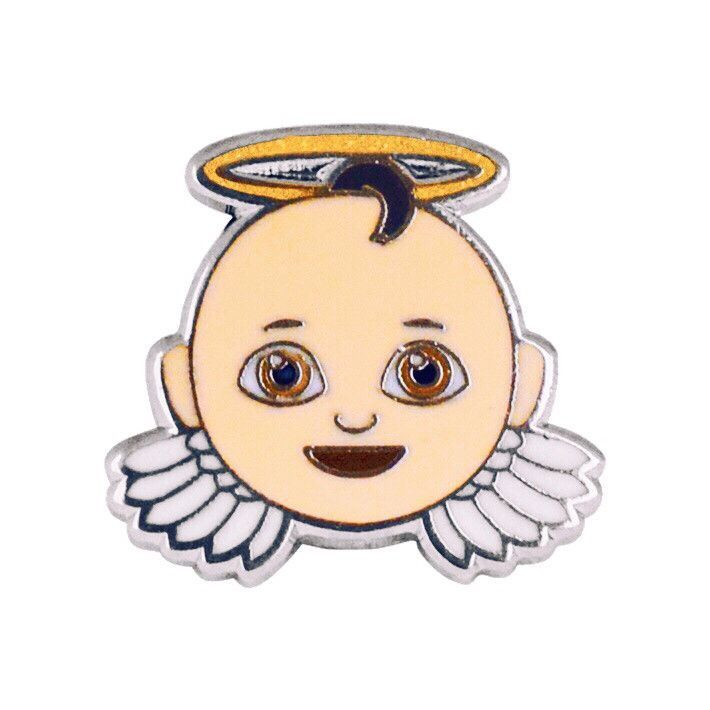 Baby Angel Emoji Pin Emoji Pin Baby Angel Emoji