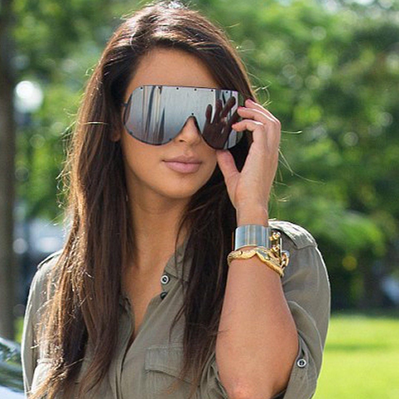 b9ea77a804 Large Oversized Shield Women Sunglasses Huge Xxl Frame Aviator Polarized  Lens