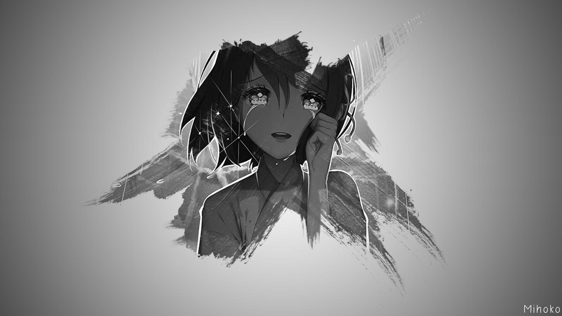 Pin On Hh Anime sad face wallpaper