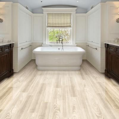 No Carpentry Required And Trafficmaster Allure Ultra Aspen Oak White Resilient Vinyl Plank Flooring The Home Depot