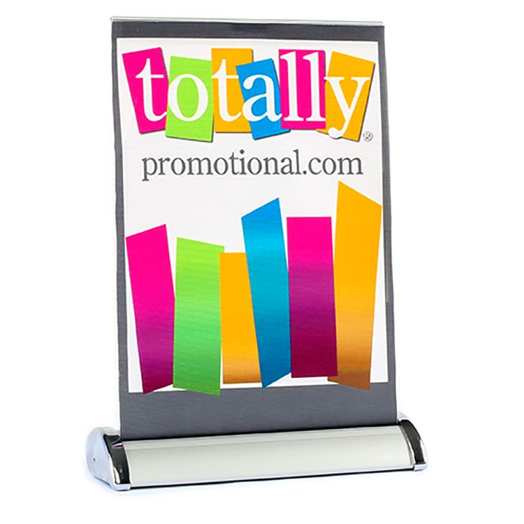 Letter Size Table Top Retractable Banner Stand | Retractable