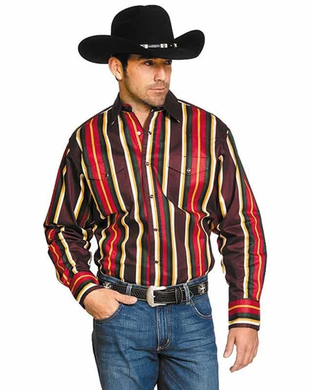 23929a59609f Wrangler Men s Burgundy Stripe Brushpopper Western Shirt - If you want  apparel that s comfortable at work or while you re relaxing