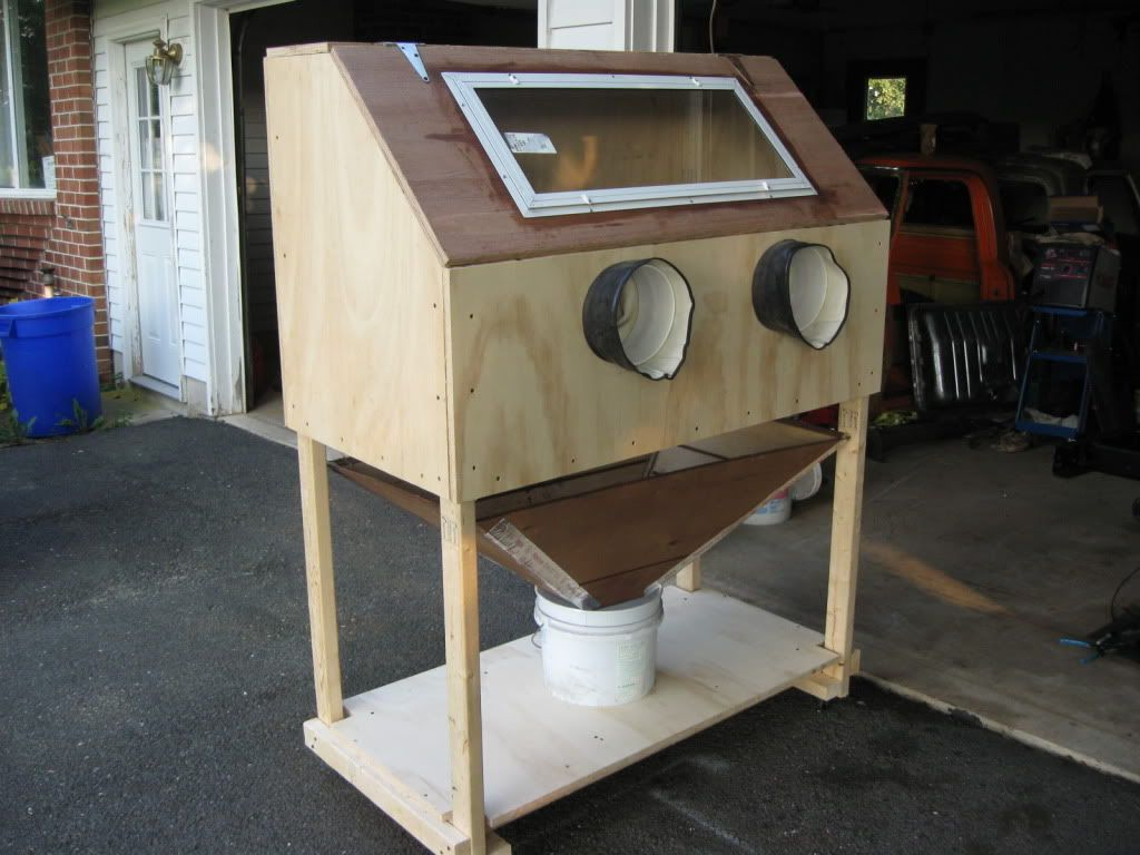 Beautiful Home Made Sand Blaster Cabinet