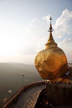 Burma Kyaiktiyo Golden Rock Myanmar Asia Travel