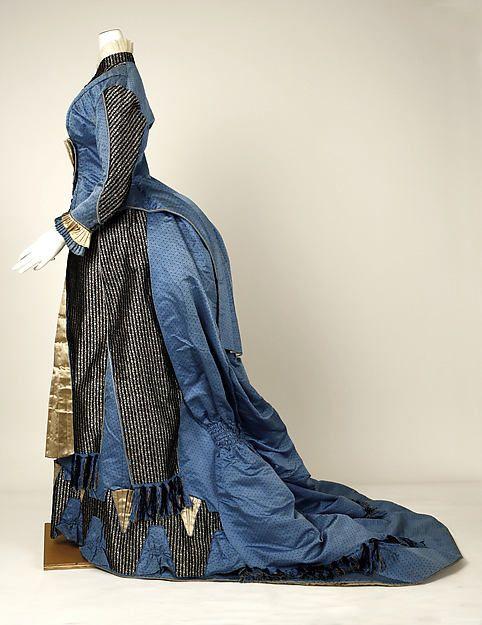 Dress Date: 1880 Culture: French Medium: silk, cotton