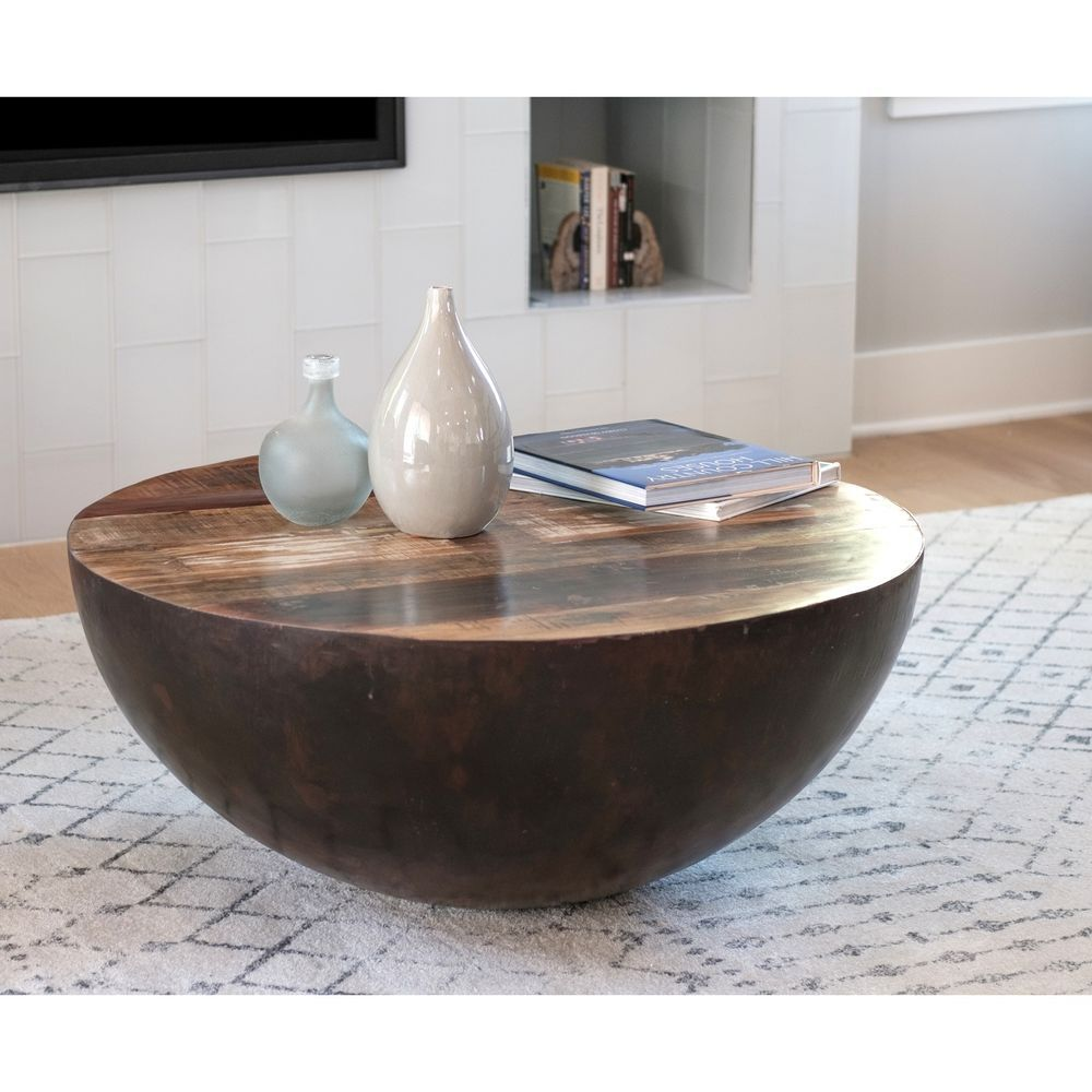 Reclaimed Wood Coffee Table Made In India Hand Painted Multi Color 36 Round Round Wood Coffee Table Coffee Table Round Coffee Table [ 1000 x 1000 Pixel ]