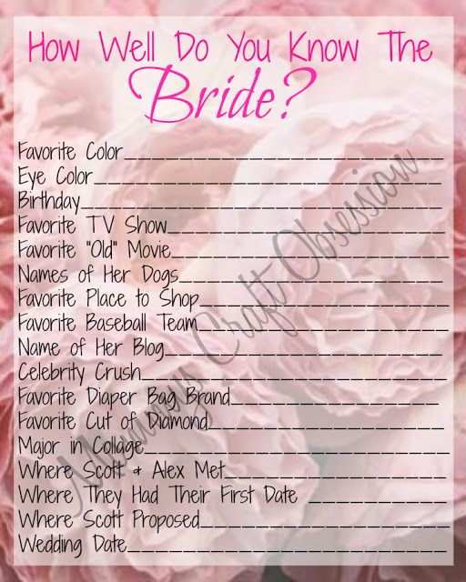 Savy Mommy Moments: D.I.Y. Printable Wedding Shower Games