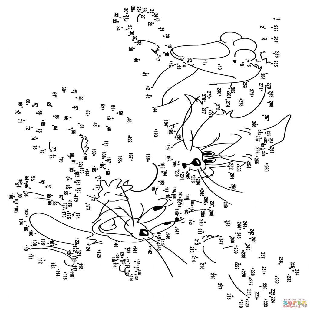 Disegno Di Tom E Jerry Da Colorare Unisci I Puntini E Stampare Per