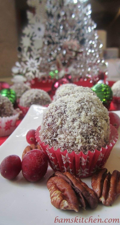 Cranberry spiced holiday balls glutenfree dairyfree