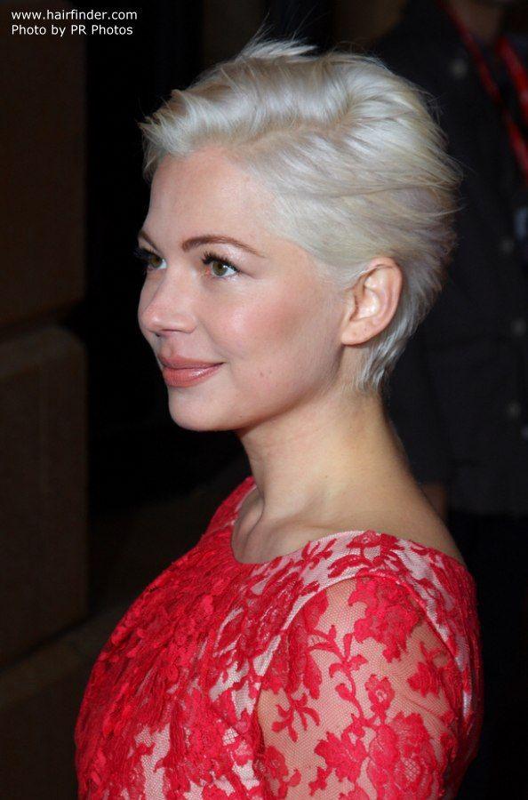Michelle Williams Short Platinum Hair Short White Hair Cute