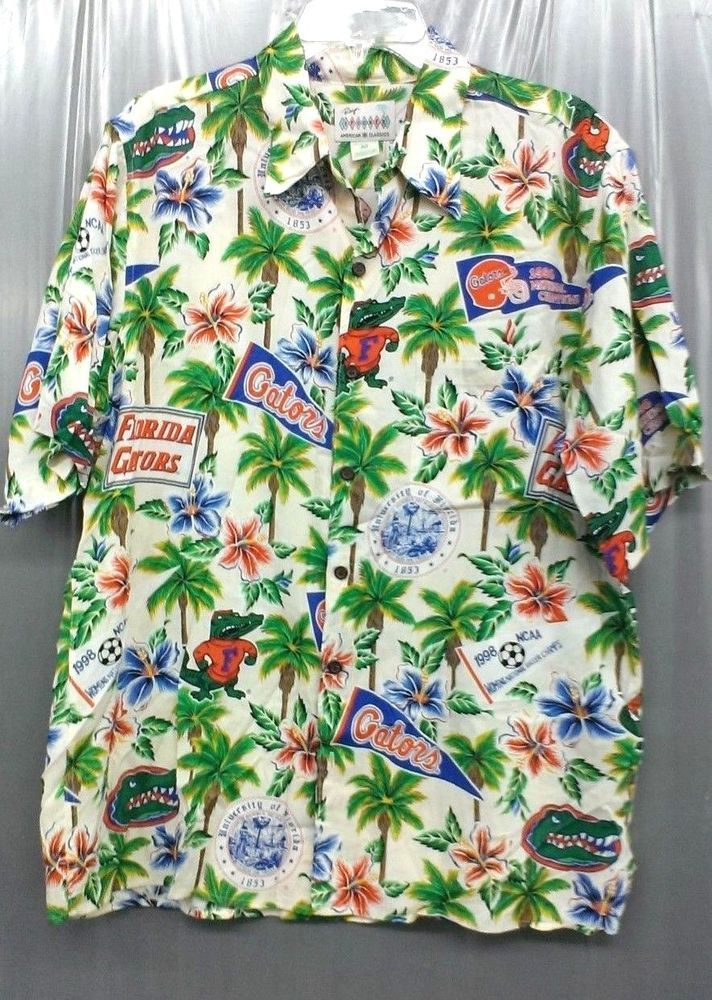32c068b1 Florida Gators Reyn Spooner Mens M Hawaiian Football NCAA Sport Vintage  Shirt #ReynSpooner #Hawaiian