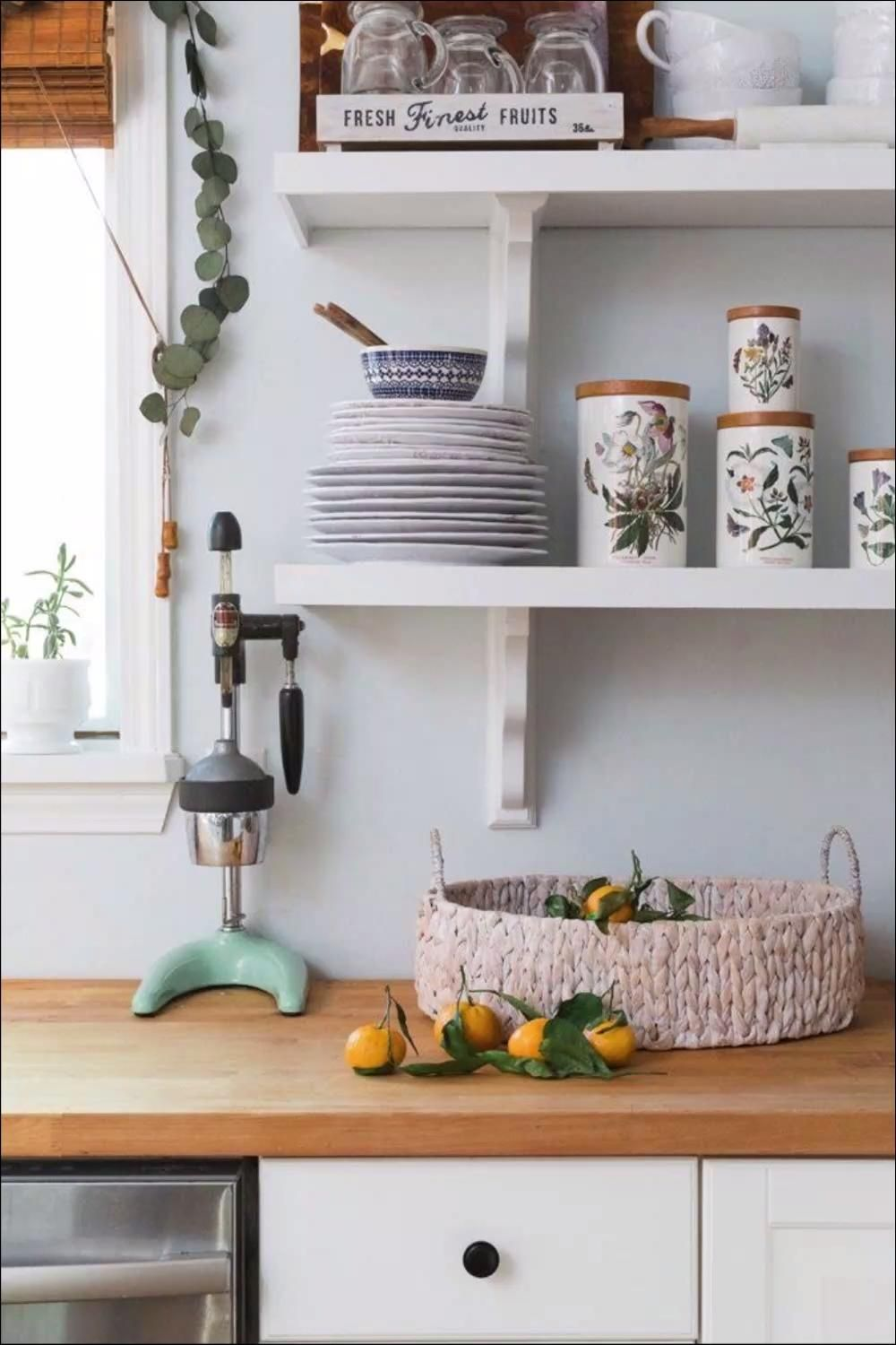 Utilitarian Contemporary Kitchen Floating Shelves Ideas For Best Additional Storage