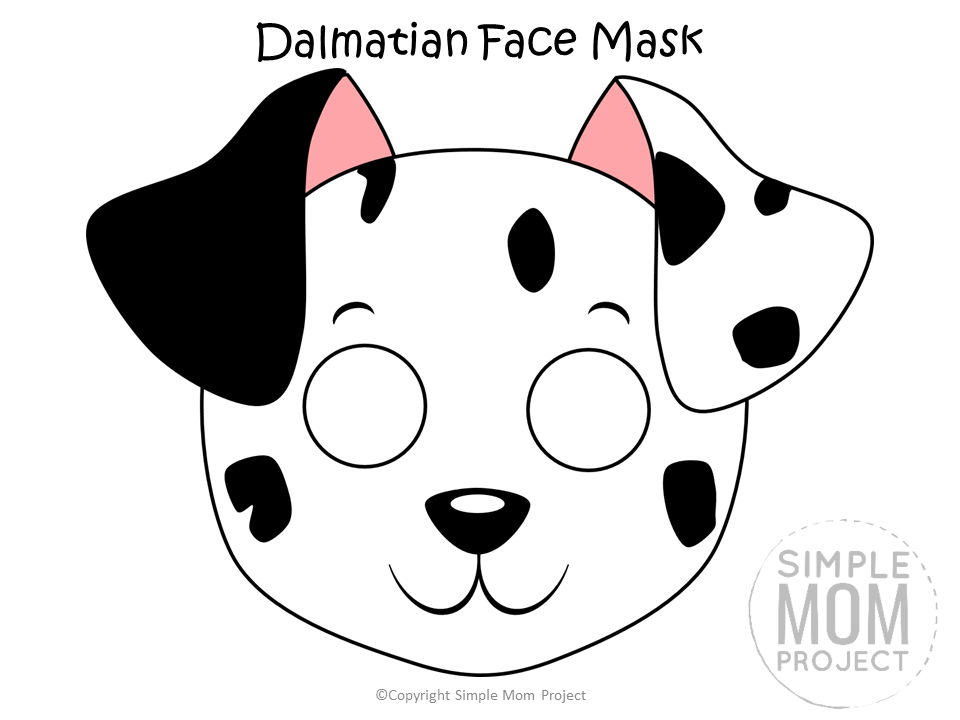 Dog Face Mask Templates Dog Face Dog Mask Puppy Coloring Pages