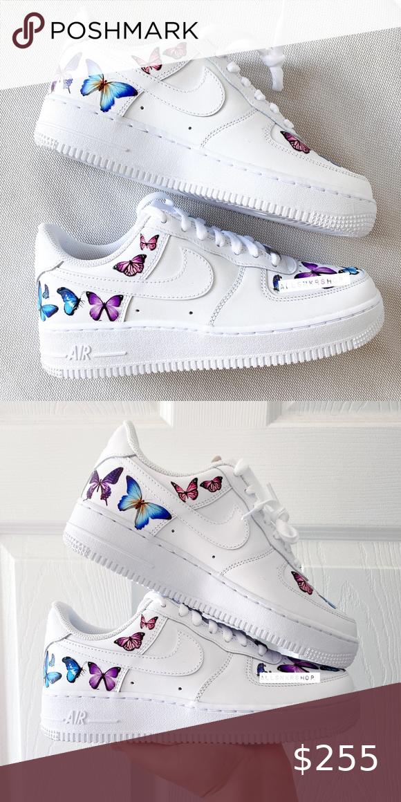 Nike air force 1 low custom butterfly 🦋 in 2020 Nike