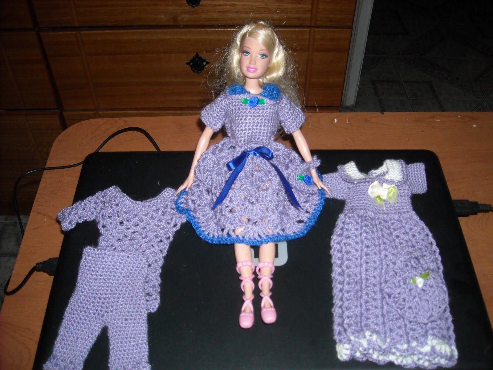Vestidos para muñecas en crochet - Imagui   Barbie clothes ...