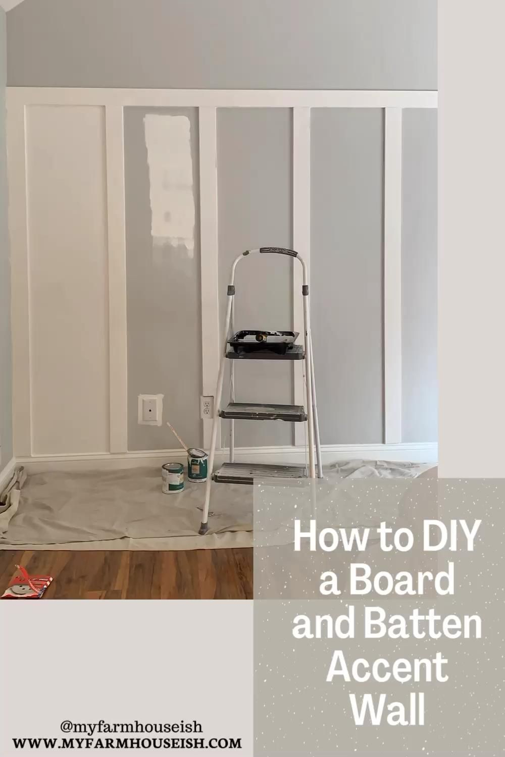Photo of How to DIY a Board and Batten Accent Wall