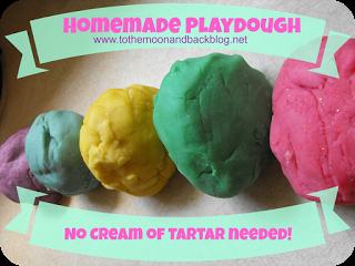 Homemade Playdough (No Cream of Tartar Needed!)1 cup flour