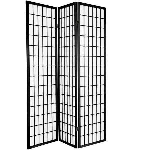 6 ft Tall Window Pane Shoji Screen - Double Sided (900 DKK