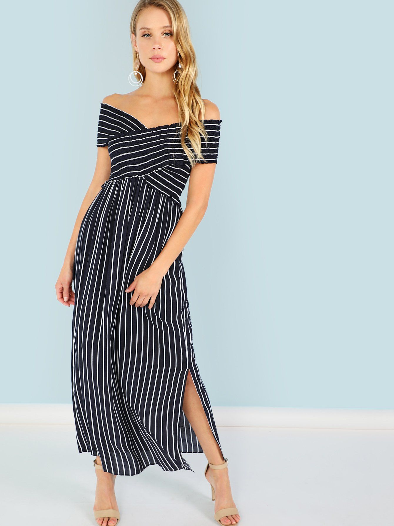721d6ef57735 Criss Cross Front Maxi Dress -SheIn(Sheinside) | personal fave in ...