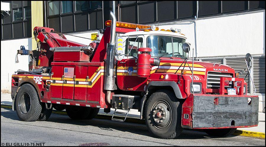 FDNY Fleet Vehicles Camion transport de pneu FDNY