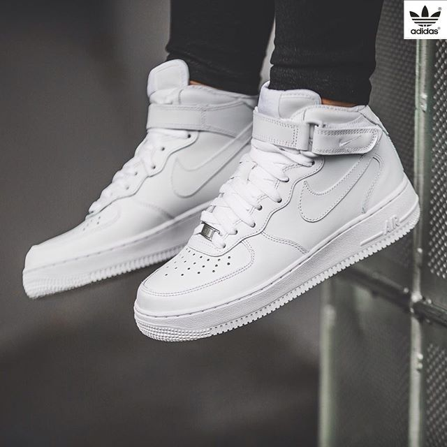 efd5c901713 Nike WMNS Air Force 1 Mid `07 LE (white) - 43einhalb Sneaker Store Fulda  Clothing