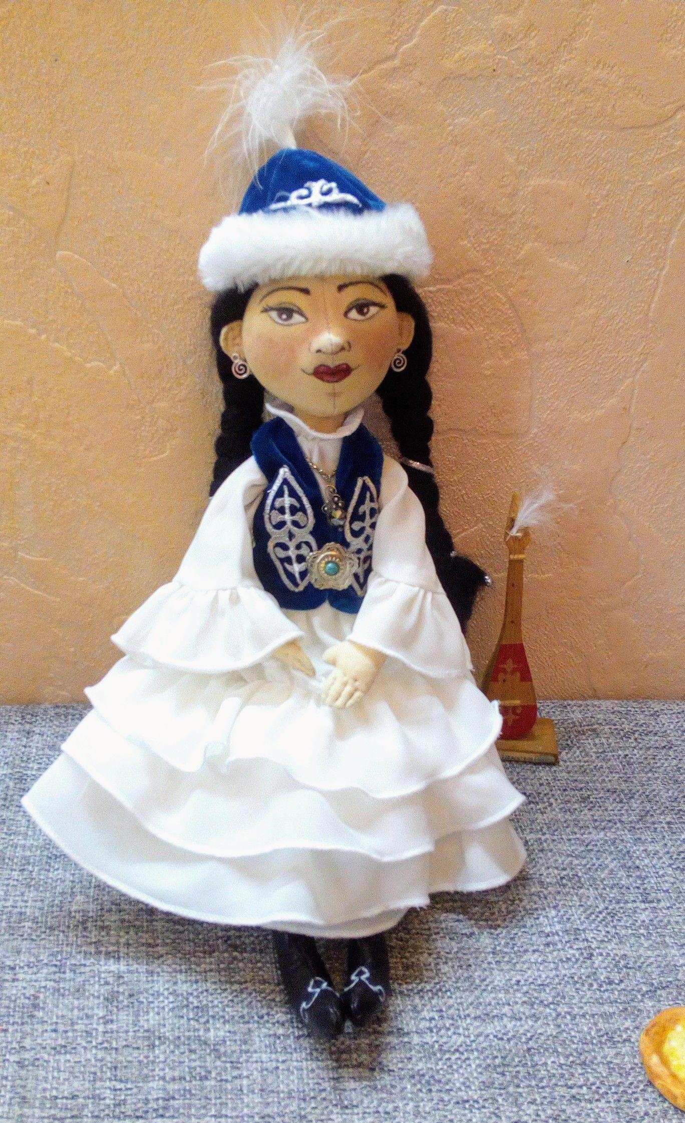 Кукла Раушан в казахском национальном костюме.   Куклы ...