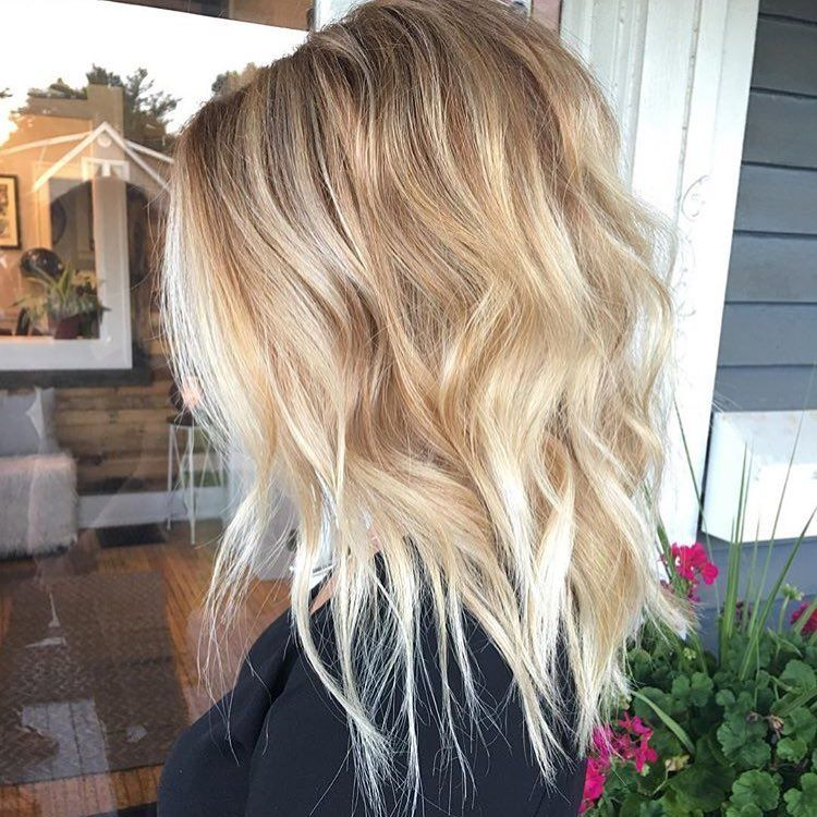 Wavy Lob Frisuren Farbe Styling Trends Jetzt Farbe