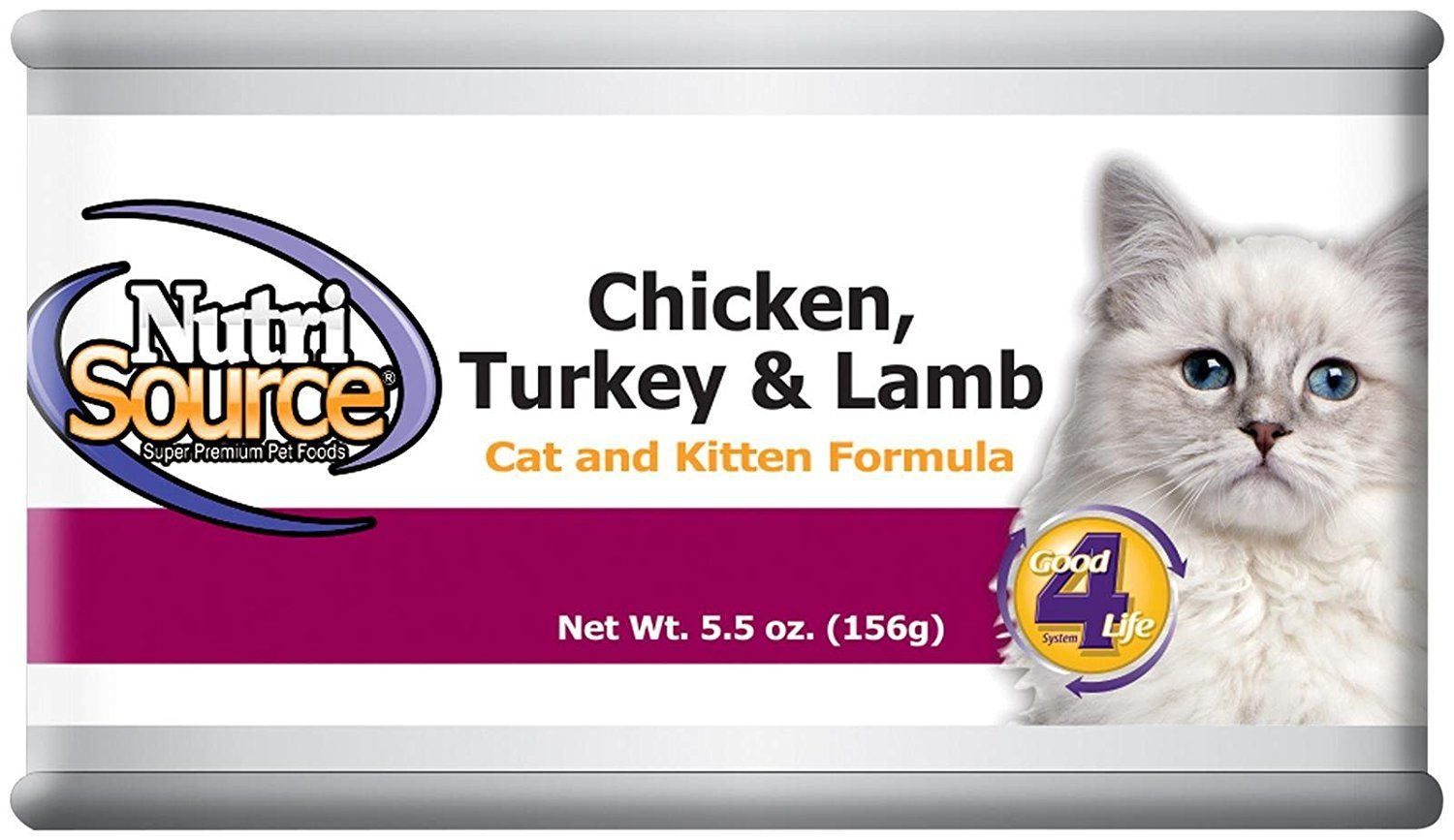 Nutri Source Cat and Kitten Canned Food 12 x 5 oz