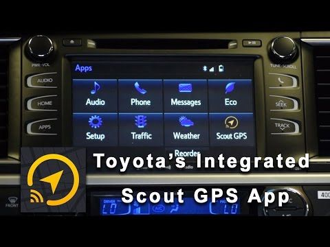 Toyota Integrated Scout GPS Application How to Setup and