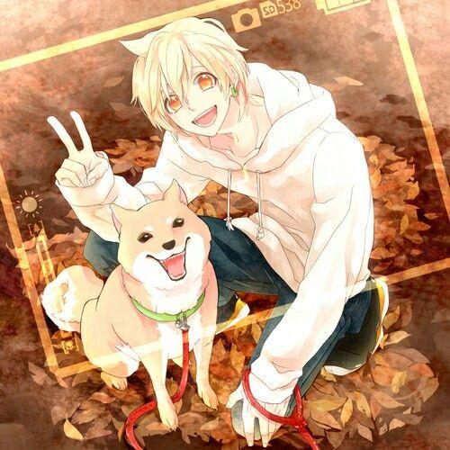 Cute anime Boy with Dog~ | Cute anime boy, Anime guys, Anime ...