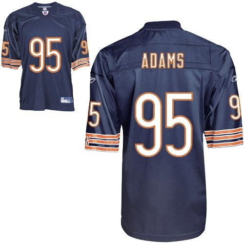 9b0cece9e30 NFL Chicago Bears #95 Anthony Adams Authentic Blue Men Jersey | NFL ...