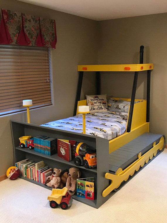 Twin Size Bulldozer Bed Plans Pdf Format Create A Construction Themed Bedroom For Your Child