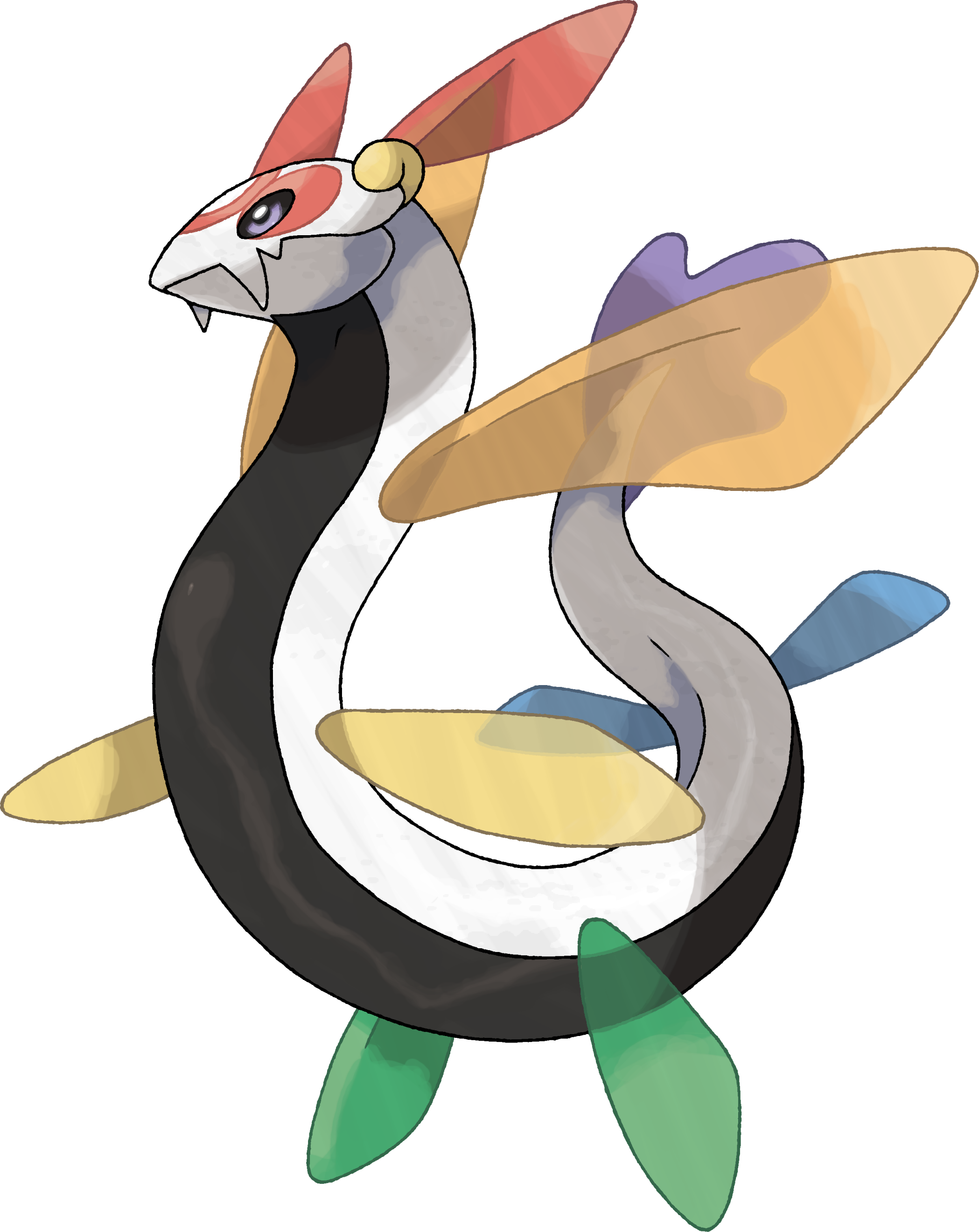 Aerositch Rainbow Dragon Pokemon Dragon Magic Pokemon