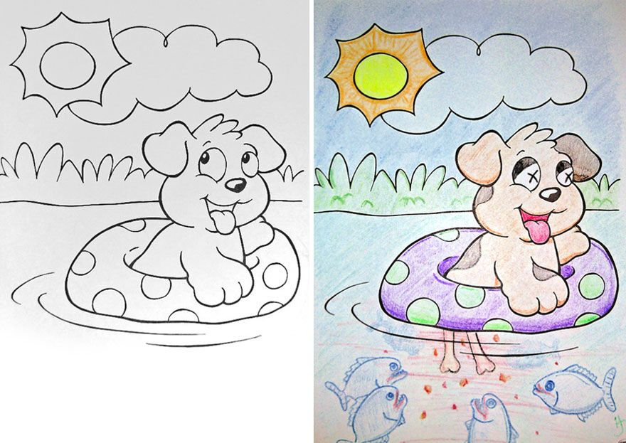 Coloring Book Corruptions See What Happens When Adults Do Coloring Books Coloring Books Corrupt Coloring Book Printable Christmas Coloring Pages