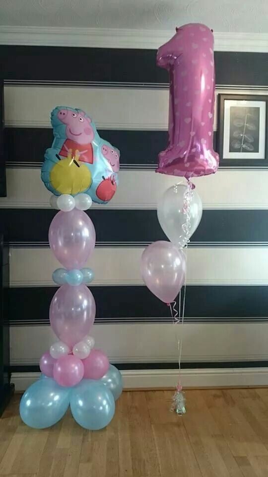 #peppa #theme #balloons #bellissimoballoons