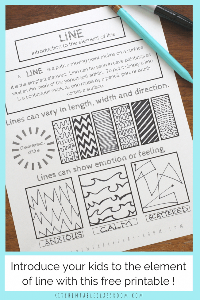 Line in Art An Intro and Free Printable   Pinterest