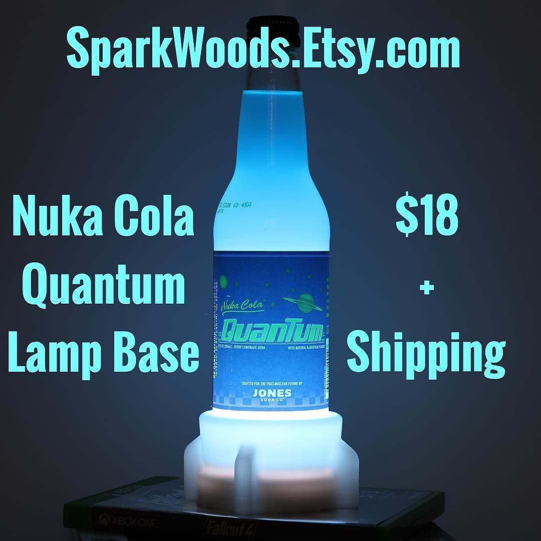 #NukaCola #Quantum Lamp Base! Light Up Your Fallout Collection. Other  Colors Available