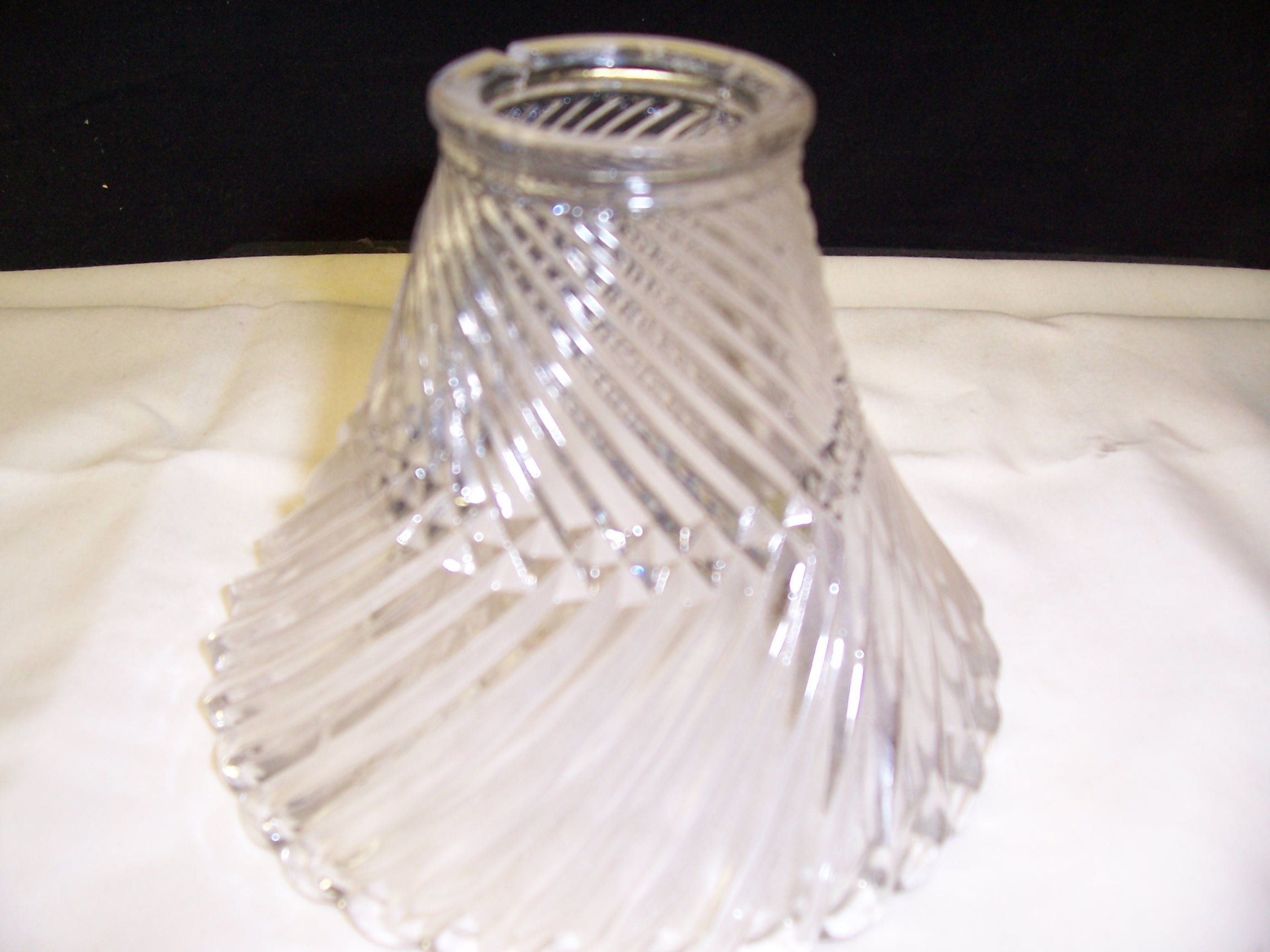 Vintage Holophane Style Trumpet Replacement Shade Clockwise Etsy Glass Holophane Candle Shades