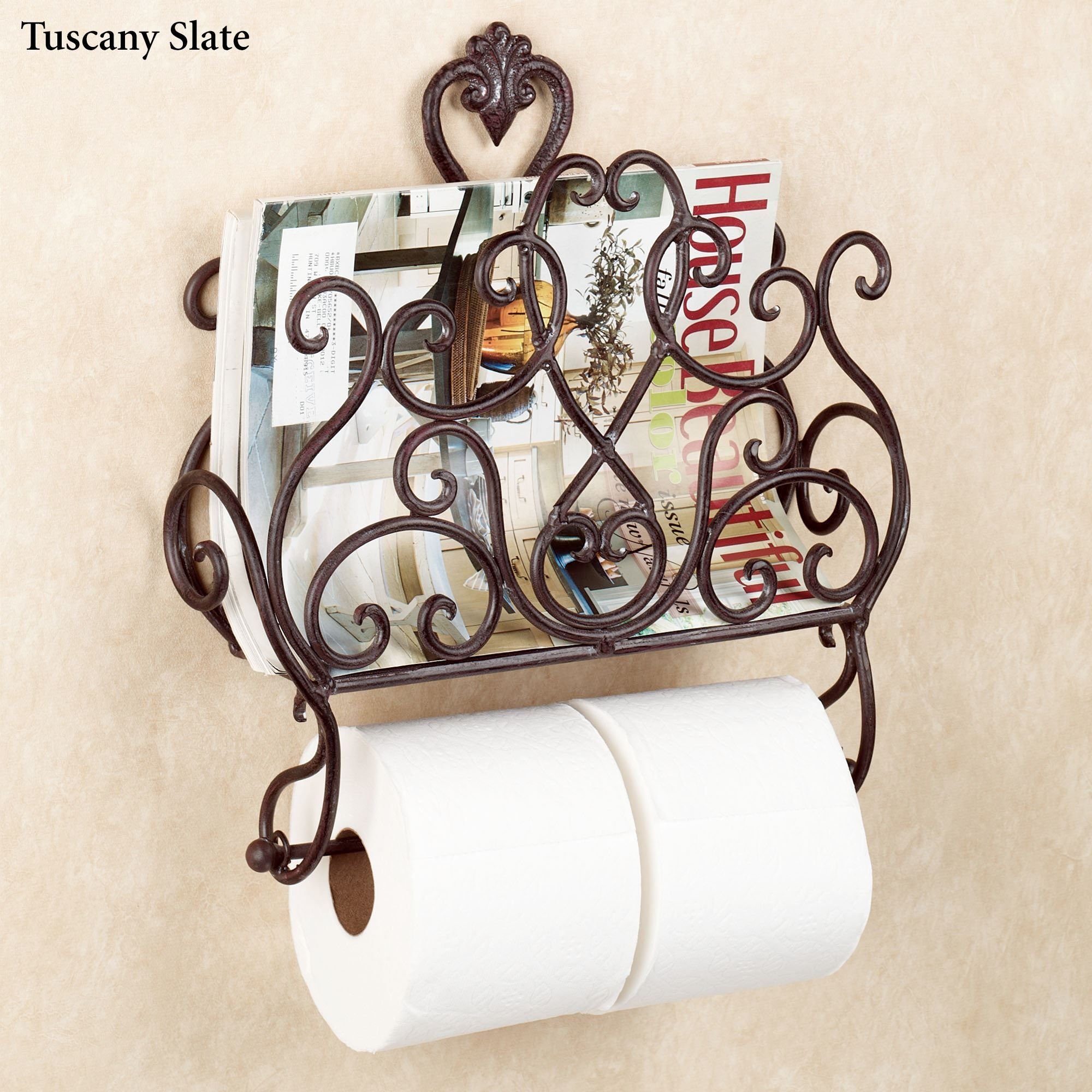 Aldabella Wall Magazine Rack With Toilet Paper Holder Toilet Paper Holder Toilet Paper Toilet