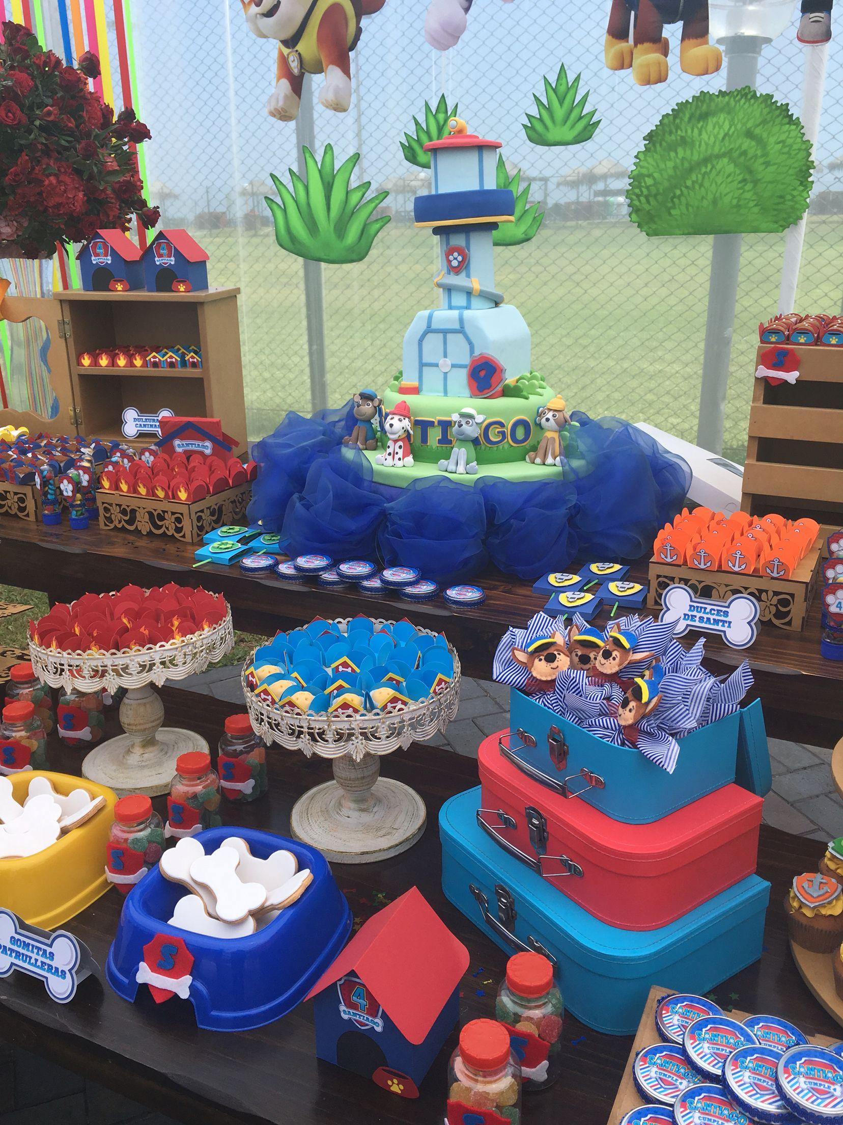 Deco mesa de dulces Paw Patrol
