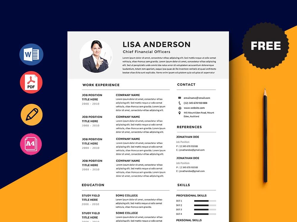 Free chief financial officers cfo resume template