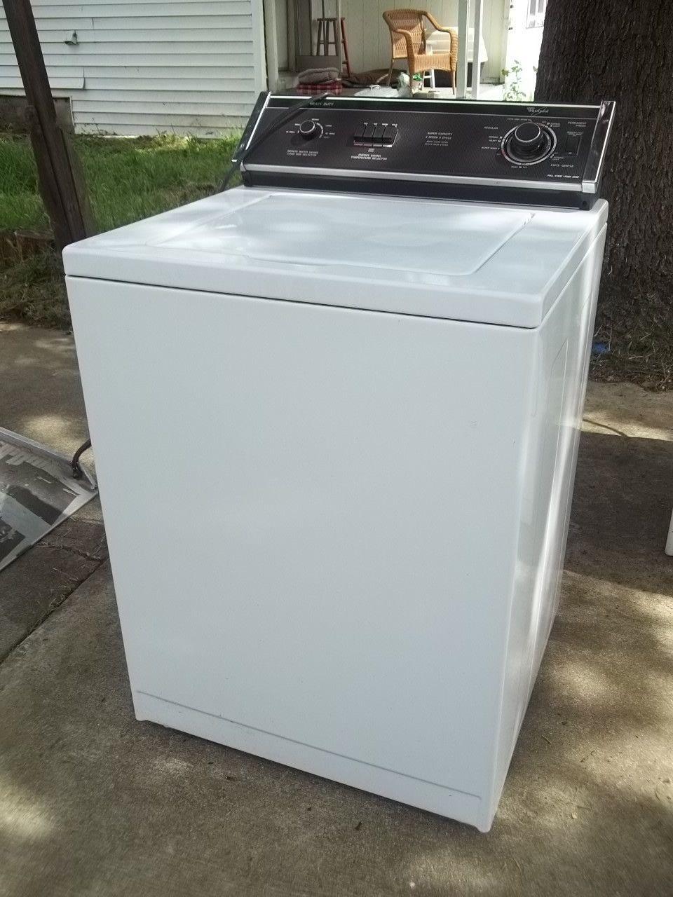 whirlpool washing machine heavy duty white 10581 vintage appliances washing machine vintage. Black Bedroom Furniture Sets. Home Design Ideas