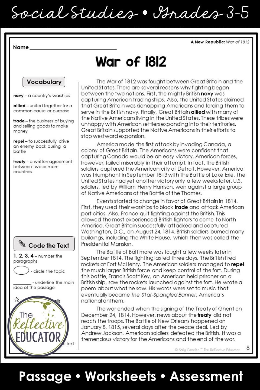hight resolution of War of 1812   Social Studies in 2020   Social studies elementary