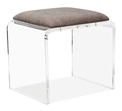 Magnificent Mira Acrylic Vanity Stool In 2019 Toscana Vanity Stool Pabps2019 Chair Design Images Pabps2019Com
