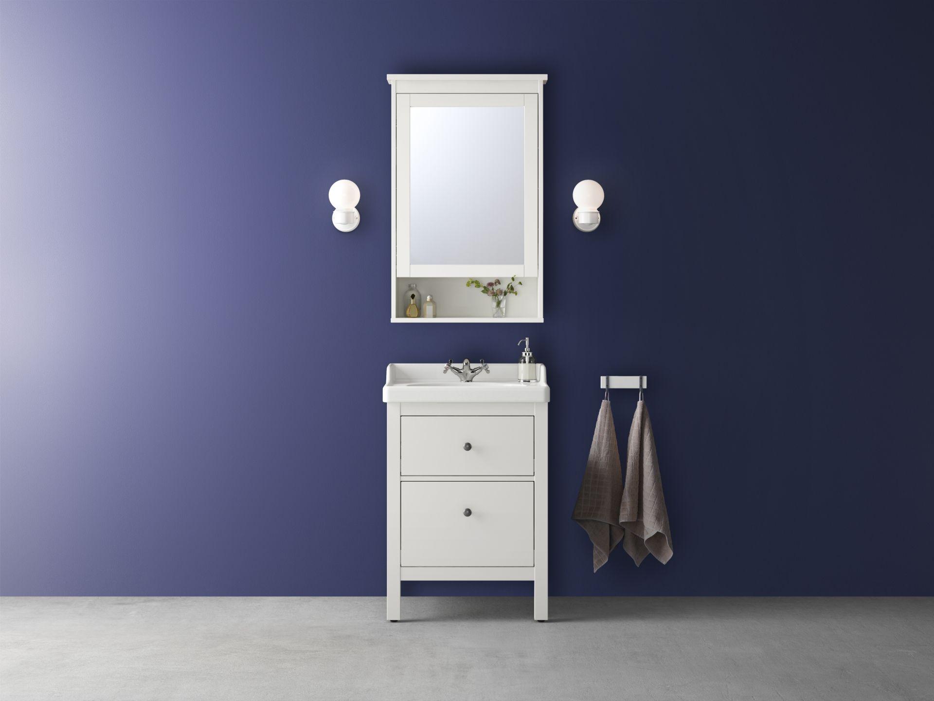 Badkamer Wandlamp Ikea : Hemnes hagaviken kast voor wastafel met lades wit ikea